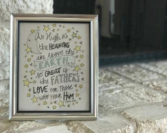 Framed Inspiration | 8x10 | Psalm 103:11