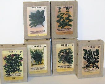 Vintage Seed Packet Home Decor