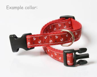 Bespoke dog lead & collar (35-53cm), 19mm width