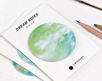 Starry Sky Sticky Notes Twilight Dream Memo Pad Office planner sticker Bookmark Stationery School Supplies - M13-1-13