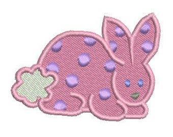 NeedleUp - Polka Dot Bunny embroidery design