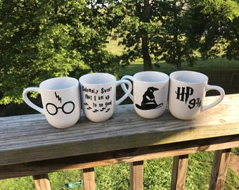 Harry Potter Themed Gift set 4 coffee Mugs