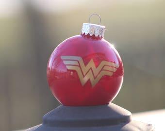 Wonder Woman Inspired Christmas Ornament