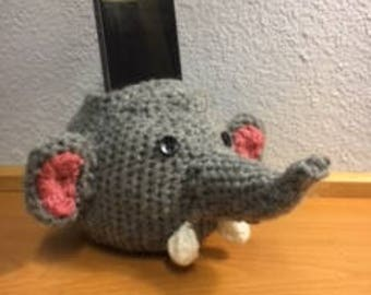 Crochet Elephant Smart Phone Holder
