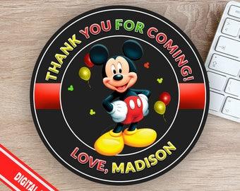 Mickey Mouse Favor Tag - Mickey Mouse Tag -  Mickey Mouse Thank You Card - Mickey Mouse Sticker