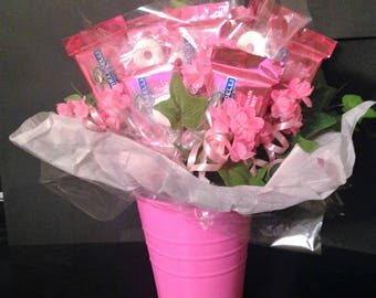 Candy Bouquet Gift Arrangement - Pink - Ghirardelli