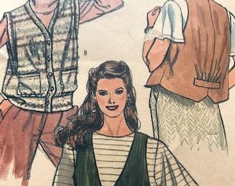 Classic Vest Pattern---Vogue 8373---size 14  Bust 36