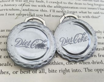 UPCYCLED RECYCLED ECOFRIENDLY sustainable bottle lid earrings silver