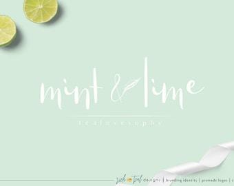Premade Logo, Feminine Design, Florist logo, floral logo, Blog logo, branding logo, Photography Logo, vintage, tea shop logo, clean logo