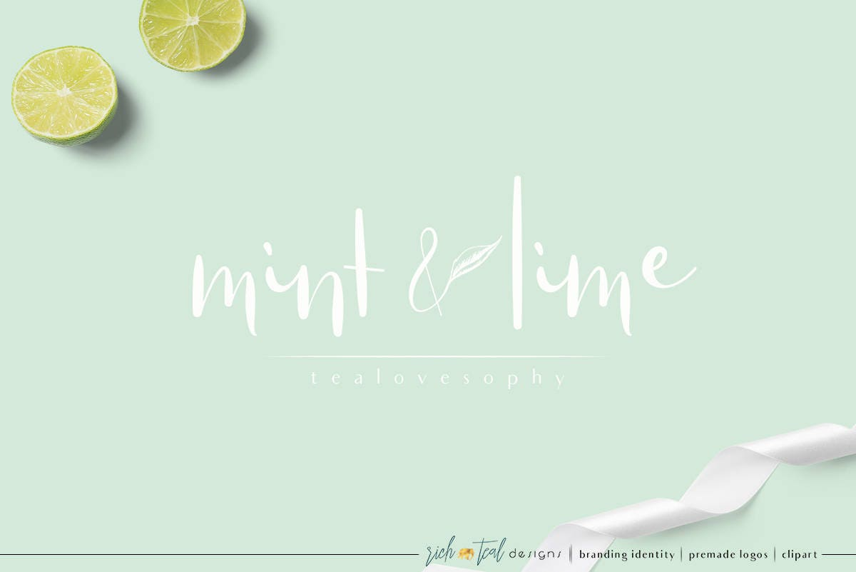 Premade Logo, Feminine Design, Florist Logo, Floral Logo, Blog Logo,  Branding
