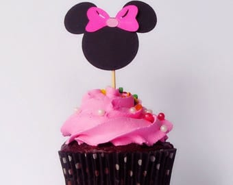 Minnie and Mickey  Mouse cupcake toppers