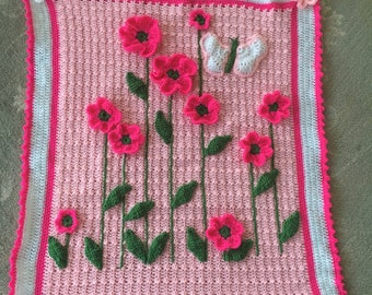 Flower bed baby blanket