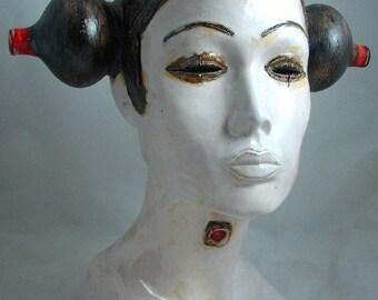 japanese dream 5, Ceramic Sculpture, Unique Ceramic Figurine, art fine ceramic,Hand Made CeramicCeramic, Art, sculpture