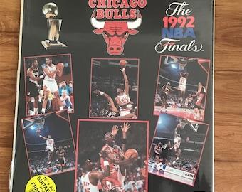 Vintage 1992 Chicago Bulls NBA Championship 16 x 20 Wall art Framed poster