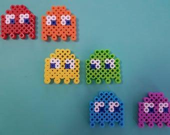 Pacman Ghost Perler Bead Sprites