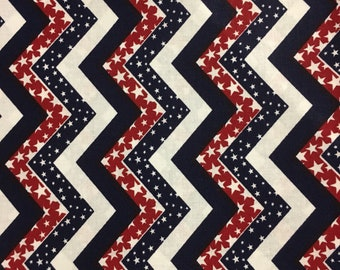 180461 Red/white/blue chevrons with stars