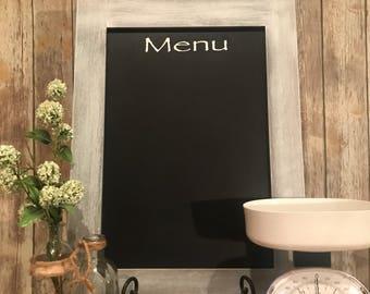 Kitchen Menu Large Chalkboard, Menu Board, Kitchen Decor, Farmhouse Decor, Farmhouse Chalkboard, Rustic Chalkboard,