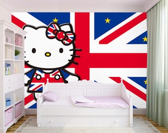 3D Hello Kitty 128 View Wallpaper Mural Wall Print Decal Wall Deco Indoor Wall  Murals Wall Part 79