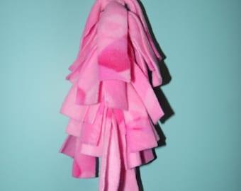"Chinvilla 12"" Hanging Chinchilla Fleece Toy - Pretty Pink"
