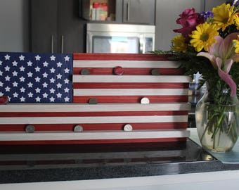 stand alone american flag coin holder perfect gift for him american flag decor