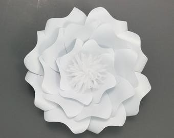 Large paper flower DIY hard copy template. DIY large paper flower cardstock template. Paper flower template cardstock.