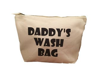 Daddy's Wash Bag (can be personalised)