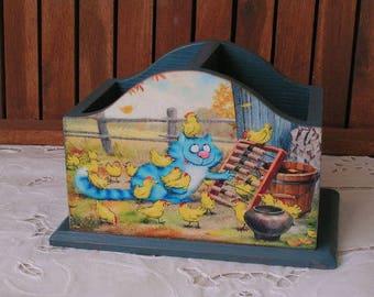 Cheerful cats* Pencils holder* Pencils box* Support for pens and pencils* box for pencils* Nursery decor