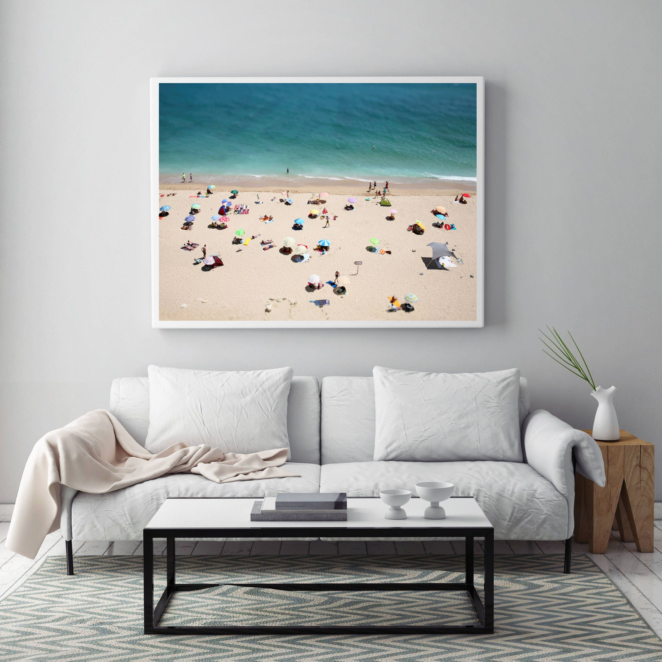 Modern Wall Art, Beach Coastal Decor, Photography, Digital Download, People  On The Beach, Wall Art, Ocean Decor, Landscape Photography, Sea