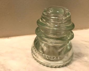 Hemingray 42 Glass Insulator, Clear