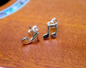 Music To My Ears Sterling Silver Stud Earrings