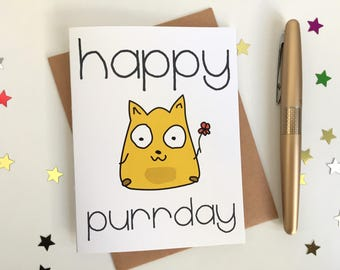 Happy Purr-day Birthday Card!