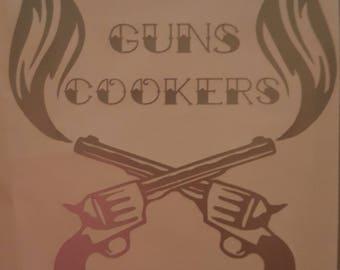 Car decal - Smokin' Guns decal