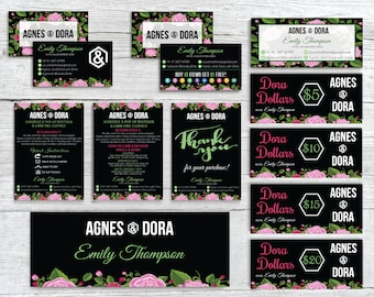 Agnes and Dora Marketing Kit, Custom Agnes and Dora Bundle, Custom Agnes Dora mini kit, Printable Agnes and Dora AG86