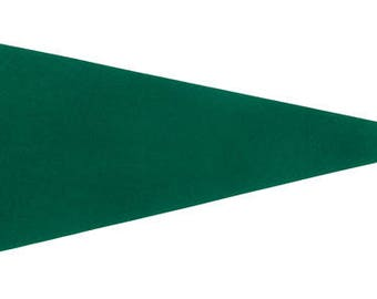 Solid 12 Green Felt Blank Pennant Flag Assorted sizes and Prices   See Description