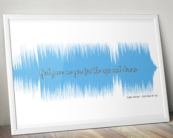 First Dance Blake Shelton God Gave Me You Soundwave Anniversary Poster Gift Audiophile
