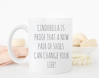 Cinderella's shoes mug