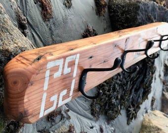 Driftwood 4 hook coat rack