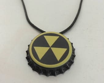 Fallout 4 Inspired Fallout Shelter Bottle Cap Necklace Wasteland Jewelry