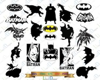 Batman SVG batman logo svg batman cowl batman silhouette batman gift batman ornament batman poster eps jpg ai cut files print Cameo Cricut