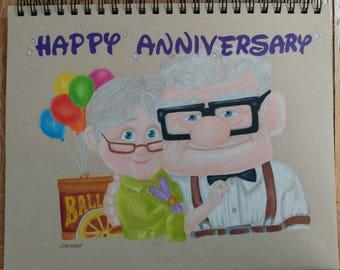 A4 Custom Anniversary UP drawing