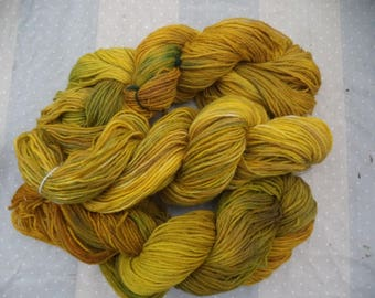 Wool hand dyed hand/150 grams/615 Mr. approximately / 75% wool 25% polyamide/SAINFOIN.