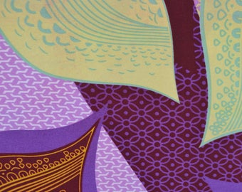 African Print/ Ankara/ 6 Yards/ Purple