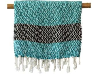 Free Shipping STELLA Turquoise Turkish Towel Peshtemal