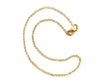 2 Rolo 13 inch chain, choker, chain necklace, finished chain with lobster clasp, gold filled chain, 2.3x 1.8mm, On sale