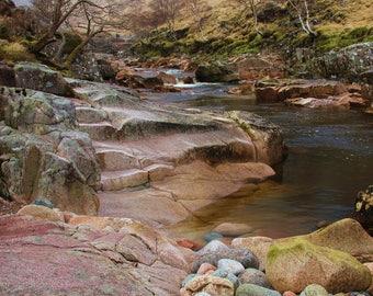Waterfall, Glen Nevis, Scotland, A6 Greetings Card