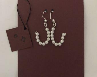 Fish Hook Pearl Earrings