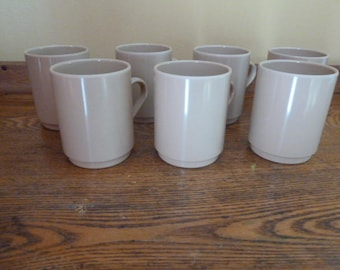 Vintage Melamine Tan Cups