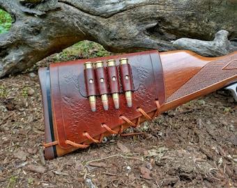 Custom Leather Buttstock Cartridge Holder