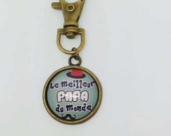 """The best Dad in the world"" keyring"