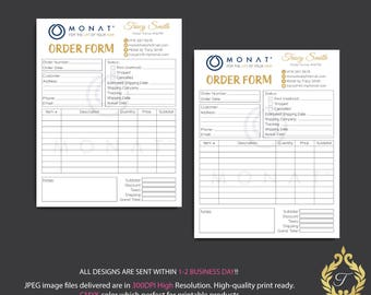 Monat Invoice Form, Monat Order Form, Personalized Monat Hair Care Cards, Monat Marketing Cards, Fast Free Personalization, Monat MN23